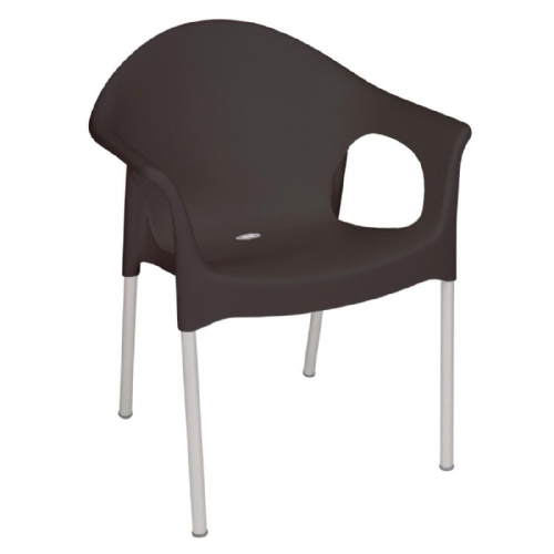 Bolero Stacking Bistro Armchairs Black (Pack of 4) - GJ973